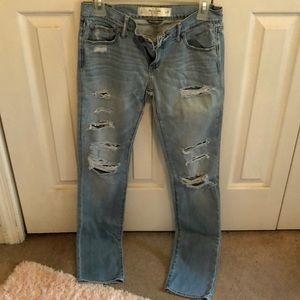 Abercrombie & Fitch size 2 distressed jeans